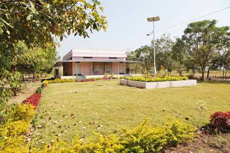 Vipassana Meditation Hall - Westside view